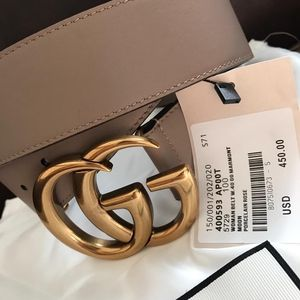 Brand new Gucci pink brass double GG